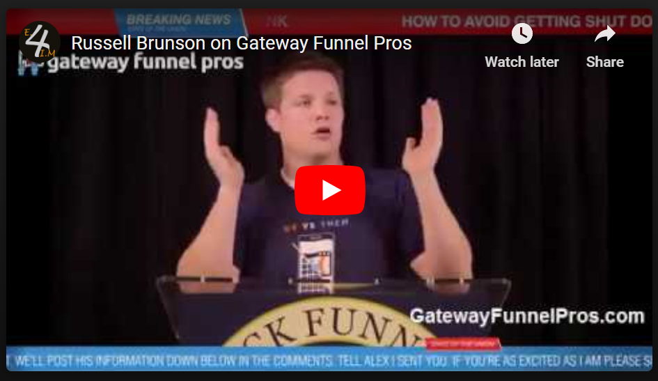 Russell Brunson's Testimonial about Gateway Funnel Pros's Owner Alex Roy